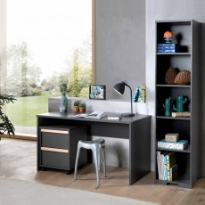 Vipack London Bookcase Anthracite