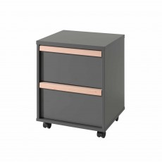 Vipack London Mobile 2 Drawer Filing Cabinet Anthracite