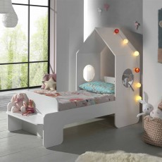 Vipack Casami House Shaped Single (70cm) Bedstead White