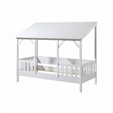 Vipack House Shaped Single (90cm) Bedstead With Three Roof Panels White