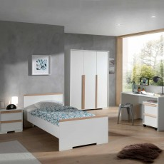 Vipack London Single (90cm) Bedstead White