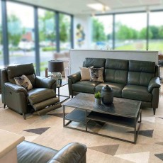 Larsen 4+ Corner Sofa With 2 Electric Recliners Leather Category 20