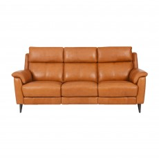 Larsen Electric Reclining 3.5 Seater Sofa Leather Category 20