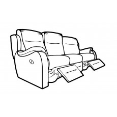 Parker Knoll Boston 3 Seater Manual Reclining Sofa Fabric A