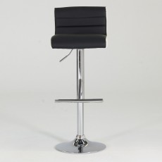 Viva High/Low Gas Lift Bar Stool Faux Leather Black