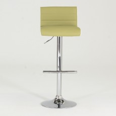 Viva High/Low Gas lift Bar Stool Faux Leather Lime