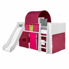 Steens for Kids Mid Sleeper with Slide White
