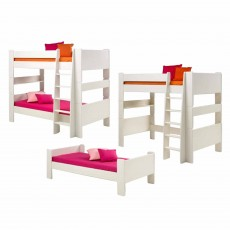 Steens for Kids Bunk Bed to Single Bed & High Sleeper Extension Kit White