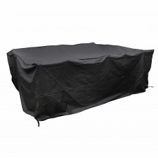 Heavy Duty Extra Large Outdoor 6 Seater Ellipse/Rectangular Dining Set Cover Black