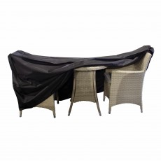 Heavy Duty Outdoor 2 Seater Bistro Set Cover Black