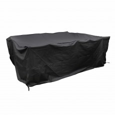 Heavy Duty Large Outdoor 6 Seater Ellipse/Rectangular Dining Set Cover Black