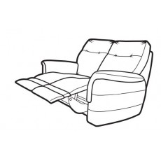 Parker Knoll Hudson 2 Seater Manual Reclining Sofa Fabric A