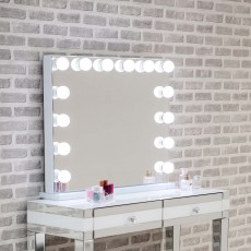 Hollywood Landscape Table Mirror With LED Lights