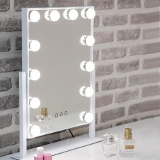 Hollywood Small Vanity Mirror With Interchangeable LED Lights