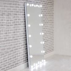 Hollywood Full Length Floor Mirror with LED Lights