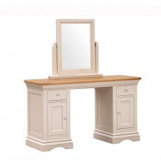 Bellingham Dressing Table Painted Off-White With Oak Top