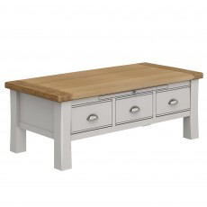 Colby Coffee Table Painted Grey & Oak Top