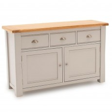 Colby Wide Sideboard Painted Grey & Oak Top