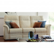 Parker Knoll Hudson 3 Seater Manual Reclining Sofa Fabric A