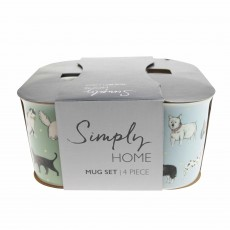 Simply Home Mugs Perfect Pets (Set of 4) Multi-Coloured