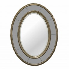 Joyce Oval Mirror Bronze & Grey