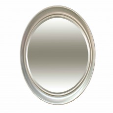 Erin Oval Mirror Silver