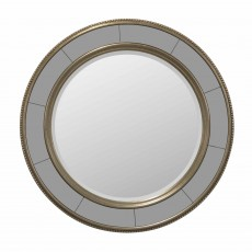 Joyce Round Mirror Bronze & Grey