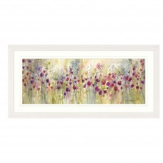 Artko Spring Floral Pods Panel 107cm x 52cm Picture White Frame by Catherine J Stephenson