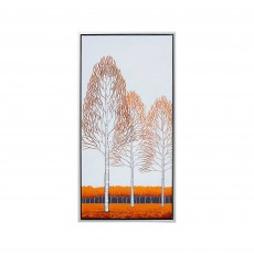 Artko Red Poplars I 44cm x 84cm Picture Silver Frame by Angela Waghorn