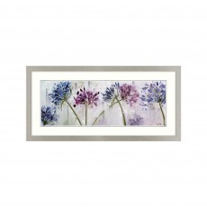 Artko Agapanthus Panel 107cm x 52cm Picture Grey Frame by Nicole Pletts