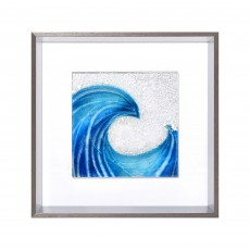 Artko Off Shore I 43cm x 43cm Picture Grey Frame Fused Glass