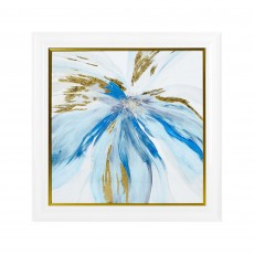 Artko Blue Monarch 85cm x 85cm Picture Gold Frame by Asia Jensen White &