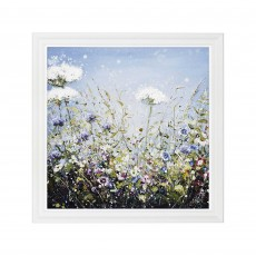 Artko Wildflower Burst 91cm x 91cm Picture White Frame by Marie Mills