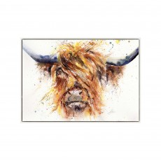 Artko Fancy Coo 104cm x 74cm Picture White Frame by Lisa Jayne Holmes