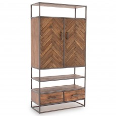 Lavanah 2 Door Display Unit Light Acacia
