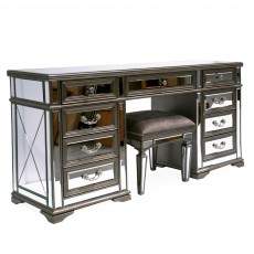 Rochelle Dressing Table Taupe & Mirrored