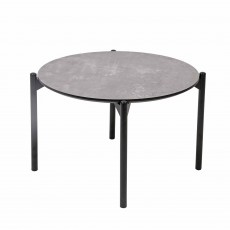 Noelle Concrete Round Side/Lamp Table Grey