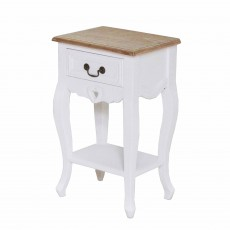 Denham 1 Drawer Bedside Locker/Side Table White