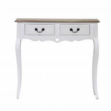 Denham 2 Drawer Console Table White