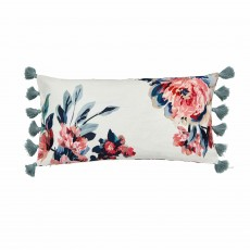 Joules Little Leaf Cushion 30cm x 60cm Creme