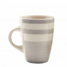 Simply Home Essentials Mugs Grey Stripe (Set of 4)