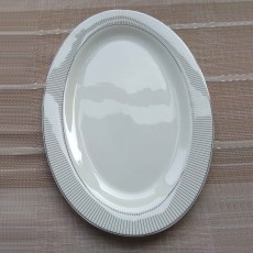 Simply Home Silver New Line Side Plate White