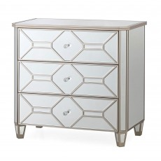 Ashley 3 Drawer Chest of Drawers Mirrored