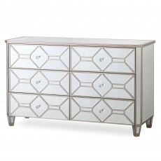 Ashley 3+3 Drawer Chest of Drawers/Sideboard Mirrored