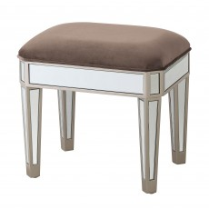 Ashley Bedroom Stool With Fabric Seat Pad Taupe