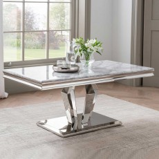 Ernest Coffee Table Stainless Steel & Marble Top