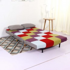Camber 2 Seater Sofa Bed Fabric Multicoloured Patchwork