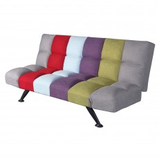 Rathlin 3 Seater Sofa Bed Fabric Multicoloured Striped
