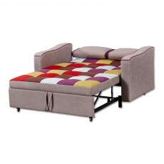 Jerpoint 2 Seater Sofa Bed Fabric Multicoloured Patchwork