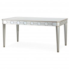 Ashley 6 Person Dining Table Mirrored